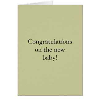 Congratulations on the new baby! greeting card