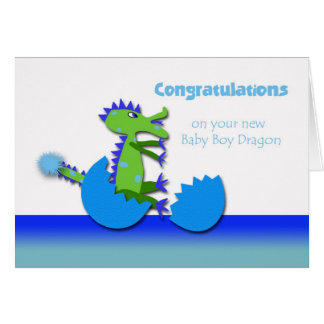 Congratulations on Year of the Dragon Baby Boy Greeting Card