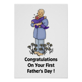 Congratulations on Your 1st Father s Day Poster