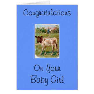 Congratulations On Your Baby Boy Greeting Card