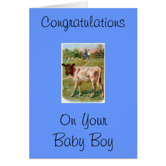 Congratulations on your baby boy greeting cards