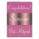 Congratulations on your Bat Mitzvah Card