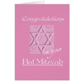 Congratulations on your Bat Mitzvah!-Pink Card