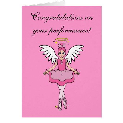 Congratulations on Your Dance Recital Angel Cards