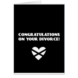 Congratulations on Your Divorce Card