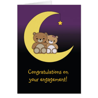 Congratulations on your engagement bears card