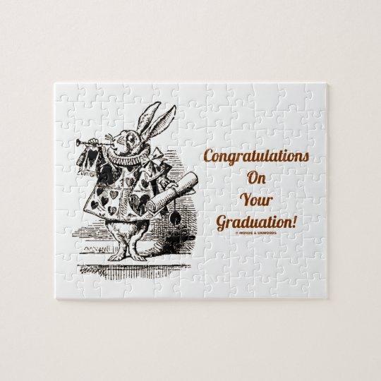 Congratulations On Your Graduation! (White Rabbit) Jigsaw Puzzle