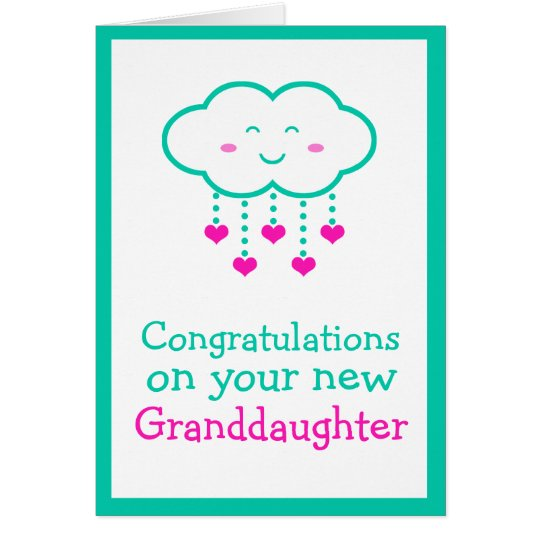 Congratulations on Your Granddaughter Card