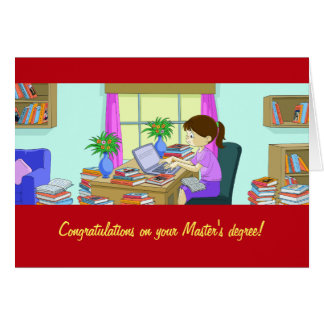 Congratulations on Your Master's Degree Card