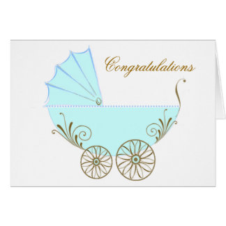 Congratulations on your new baby boy greeting car note card