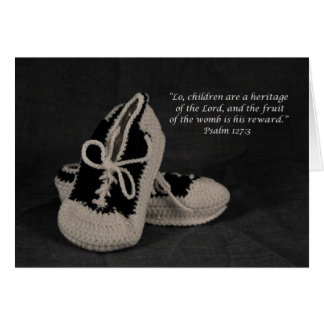 Congratulations on your new Baby Boy scripture Greeting Card