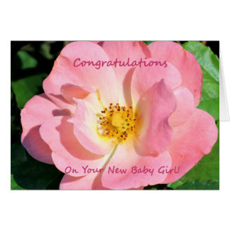 Congratulations On Your New Baby Girl Card