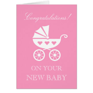 Congratulations on your new baby girl daughter card