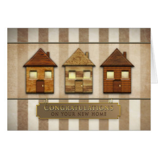Congratulations on your New Home - Brown/Houses Card