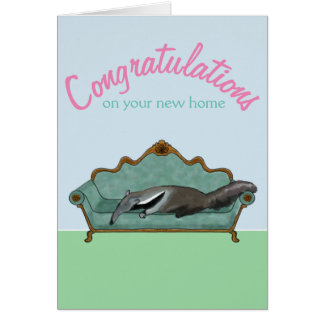 Congratulations on your new home -- cute Anteater Card