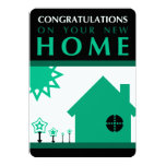 congratulations on your new home (green shapes) custom invitations