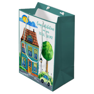 Congratulations on Your New Home Medium Medium Gift Bag