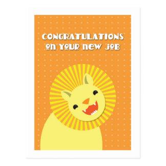 Congratulations on your new JOB! career lion Postcard