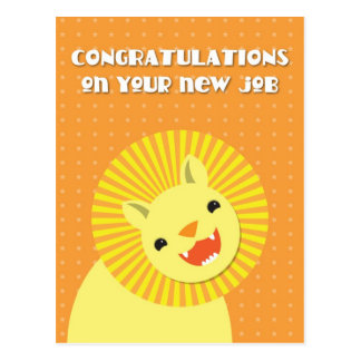 Congratulations on your new JOB! career lion Postcards