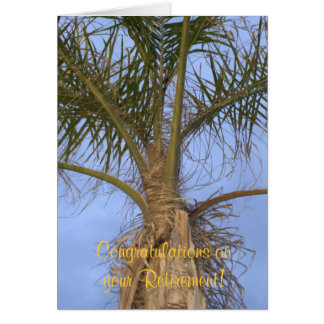 Congratulations on your Retirement Palm Tree Card Greeting Cards