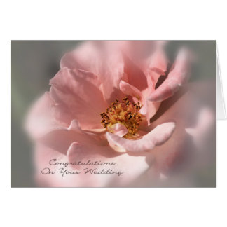Congratulations On Your Wedding - Soft Rose Greeting Card