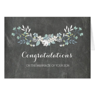 Congratulations Parents of the Groom Chalkboard Card
