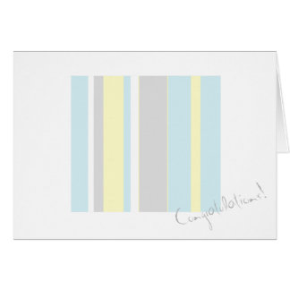 Congratulations Pastel Colors Stripe Greeting Card