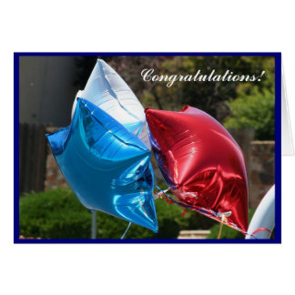 Congratulations patriotic balloons greeting card