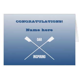 Congratulations personalised rowing card