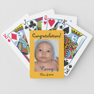 Congratulations Personalizable Graduation Theme Bicycle Playing Cards