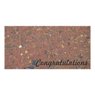 Congratulations photo card - sand and pebbles