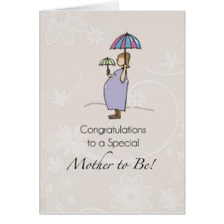 Congratulations Pregnancy Umbrella Greeting Card