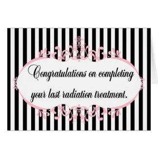 Congratulations radiation complete customize card