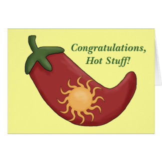 Congratulations Red Chili Pepper Card - Western