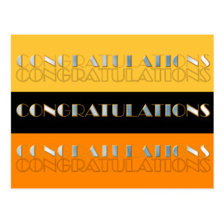 Congratulations Shiny and Multiplied Postcard