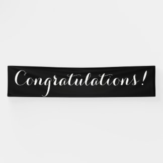 Congratulations simple black white banner sign