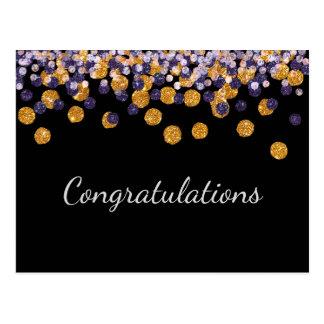 Congratulations Sparkle Postcard