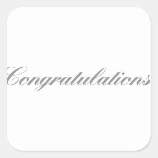 congratulations square sticker