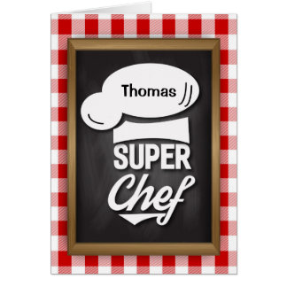 Congratulations Super Chef, Culinary School Grad Card