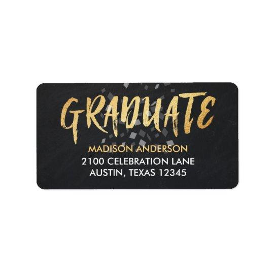 Congratulations text confetti scripted Graduation Label
