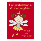 Congratulations to Granddaughter, lost first tooth Card
