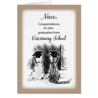 Congratulations to Niece on Veterinary School Grad Card