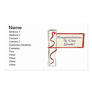 Congratulations To Our Grads Pack Of Standard Business Cards