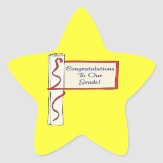 Congratulations To Our Grads Star Sticker