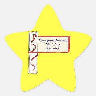Congratulations To Our Grads Star Sticker