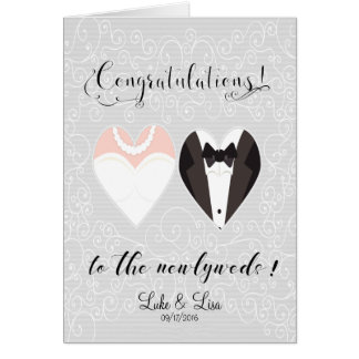 Congratulations to the Newlyweds Card