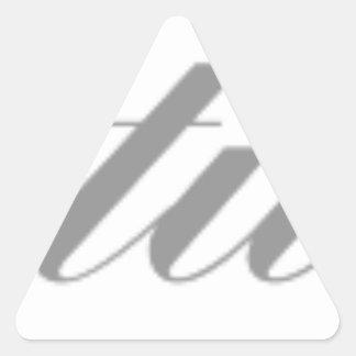 congratulations triangle sticker