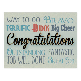 Congratulations - Way To Go Postcard