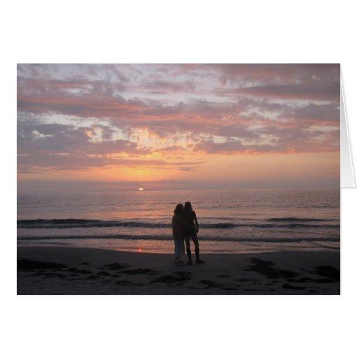 Congratulations Wedding beach couple Greeting Card