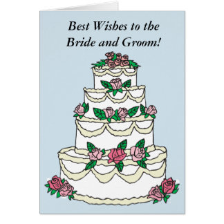 Congratulations Wedding Best Wishes BRIDE & GROOM Card